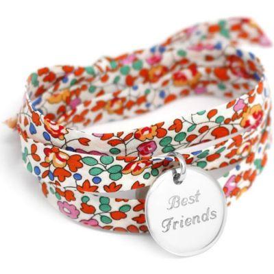 Bracelet Liberty ruban personnalisable (argent 925°)  par Petits trésors