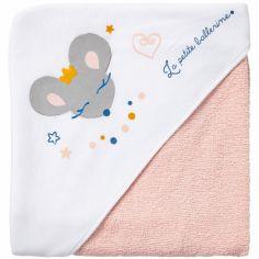 Cape de bain souris La petite ballerine (80 x 80 cm)
