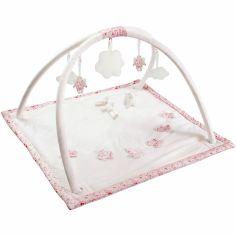 Tapis d'éveil musical avec arches liberty rose (90 cm)