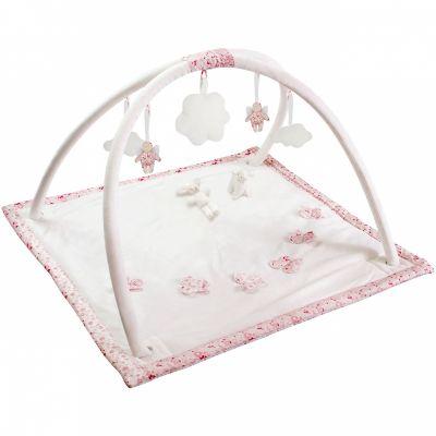 tapis d eveil musical avec arches liberty rose 90 cm