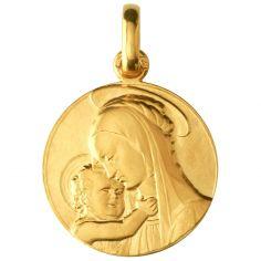 Médaille Vierge de Botticelli (or jaune 750°)