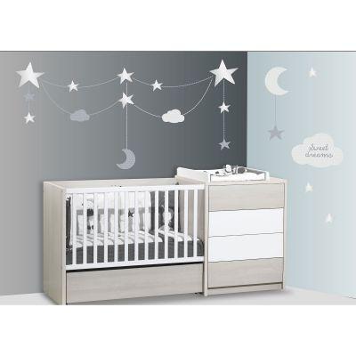 Stickers nuages et étoiles Céleste (60 x 80 cm)  par Sauthon