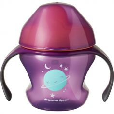 Tasse à bec souple Sippee 1er âge violette et orange