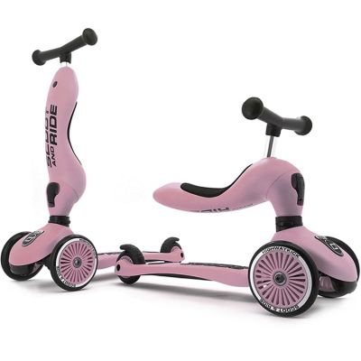 Porteur évolutif en trottinette Highwaykick 1 rose  par Scoot And Ride