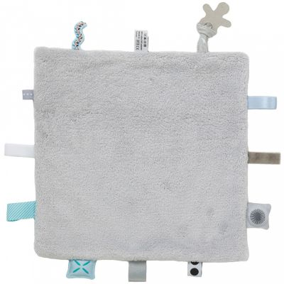 Doudou attache sucette Sweet Dreaming Lovely Grey (25 x 25 cm) Snoozebaby