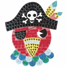 Kit de cartes mosaïques en mousse L'île aux pirates