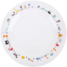 Assiette en porcelaine avec ventouse ABC