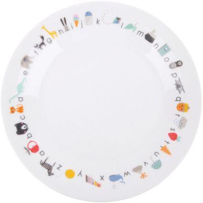 Assiette en porcelaine avec ventouse ABC  par Love Maé