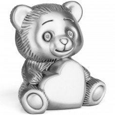 Tirelire Ours avec coeur effet mat