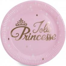 Assiettes en carton Danseuse et princesse (8 pièces)  par Arty Fêtes Factory