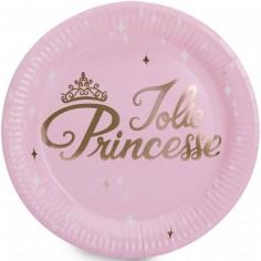 Assiettes en carton Danseuse et princesse (8 pièces)