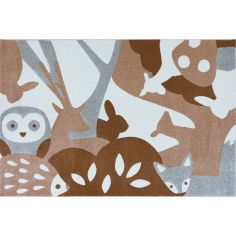 Tapis rectangulaire Animaux de la forêt (100 x 150 cm)