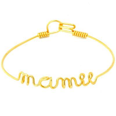 Bracelet Mamie en fil Gold-filled or jaune 585° (16 cm)  par Hava et ses secrets