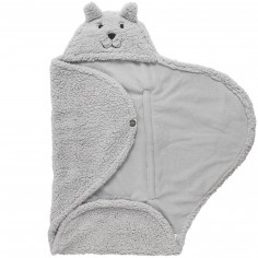 Couverture nomade teddy Bear gris (0-3 mois)
