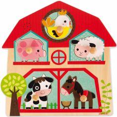 Puzzle musical Les copains de la ferme (5 pièces)