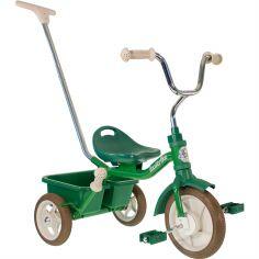 Tricycle Passenger avec panier arrière amovible vert