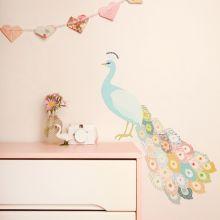 Sticker paon Peacock (grand modèle)  par Love Maé