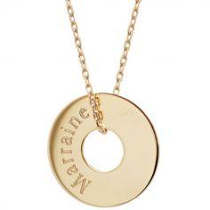Collier Petite chérie chaîne 45 cm personnalisable (plaqué or)