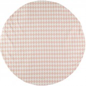 Tapis de parc Apache Losange rose clair (105 cm) - Nobodinoz