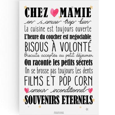 Affiche Chez Mamie (A3)  par La Poupette à paillettes
