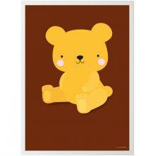 Affiche Ours caramel (50 x 70 cm)  par A Little Lovely Company