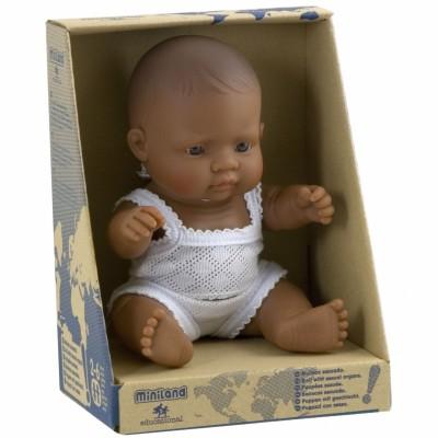Poupée bébé fille Latino-Américaine (21 cm) Miniland