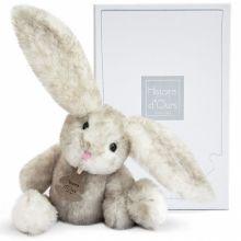 Peluche Lapin Fluffy perle (27 cm)  par Histoire d'Ours