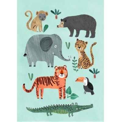Affiche Animaux sauvages (50 x 70 cm)  par Petit Monkey