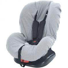 Housse siège auto en jersey gris chiné (groupe 0+/1)