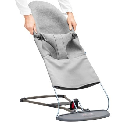 Housse pour Transat Bliss et Balance Soft Jersey 3D gris clair