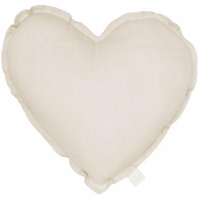 Coussin coeur écru Pure nature (40 cm)  par Cotton&Sweets