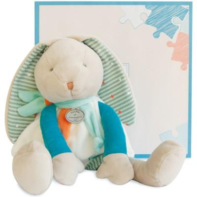 Peluche lapin Happy (35 cm) Doudou et Compagnie