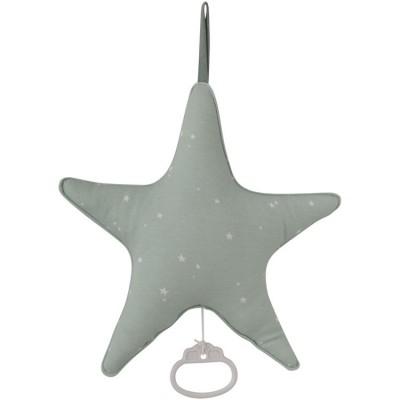 Doudou musical à suspendre étoile Little stars mint (27 cm) Little Dutch