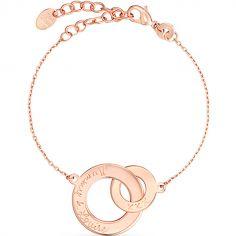 Bracelet Anneaux entrelacés personnalisable (plaqué or rose)