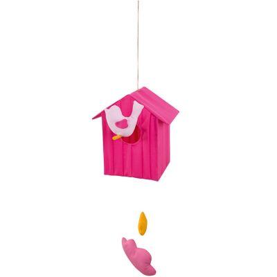 Cabane volante fuschia (50 cm)  par L'oiseau bateau