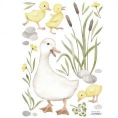 Planche de stickers A3 Maman canard