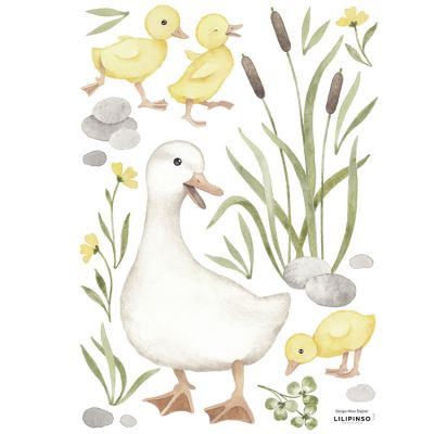 Planche de stickers A3 Maman canard Lilipinso