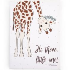 Tableau girafe Hi there, little love (30 x 40 cm)
