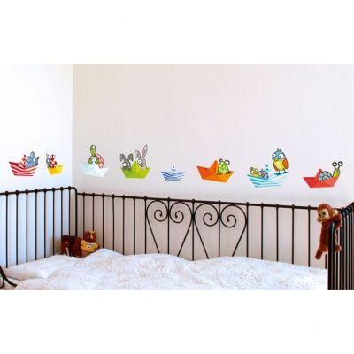 Stickers muraux Petits bateaux  par Série-Golo