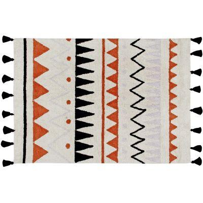 Tapis lavable azteca naturel terracotta (120 x 160 cm)  par Lorena Canals