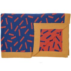 Couverture tricot allumettes (88 x 114 cm)