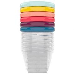 Lot de 6 Babybols avec couvercles de couleurs (180 ml)
