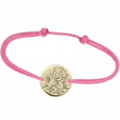 Bracelet cordon enfant Maline (or jaune 375°)