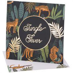 Lot de 8 cartes d'invitation Jungle Fever