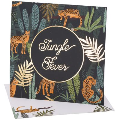 Lot de 8 cartes d'invitation Jungle Fever  par Arty Fêtes Factory