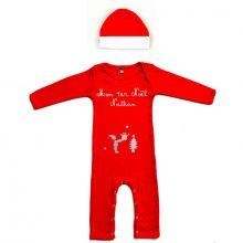 Set Pyjama personnalisable + Bonnet Mon Premier Noël (3 mois)  par Les Griottes