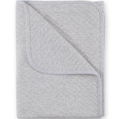 Couverture en coton Kilty gris chiné (75 x 100 cm)