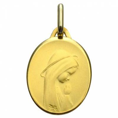 Médaille ovale Vierge priante 17 mm (or jaune 375°)  par Premiers Bijoux