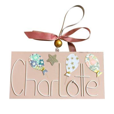 Plaque de porte ballon rose vintage (personnalisable) Marie-Laure Créations