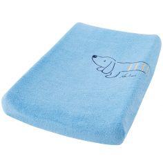 Matelas à langer avec housse Aston & Jack chien bleu
